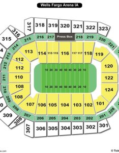 Wells fargo arena des moines seating chart football also charts  tickets rh bizarrecreations