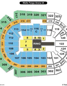 Wells fargo arena des moines seating chart wwe also charts  tickets rh bizarrecreations