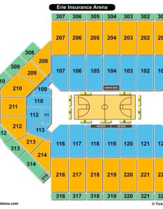 Erie insurance arena seating chart basketball also charts  tickets rh bizarrecreations