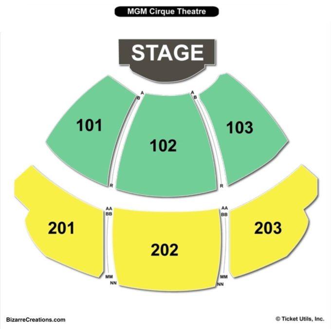Mgm Grand Vegas Theater Seating Chart   Viewkaka.co