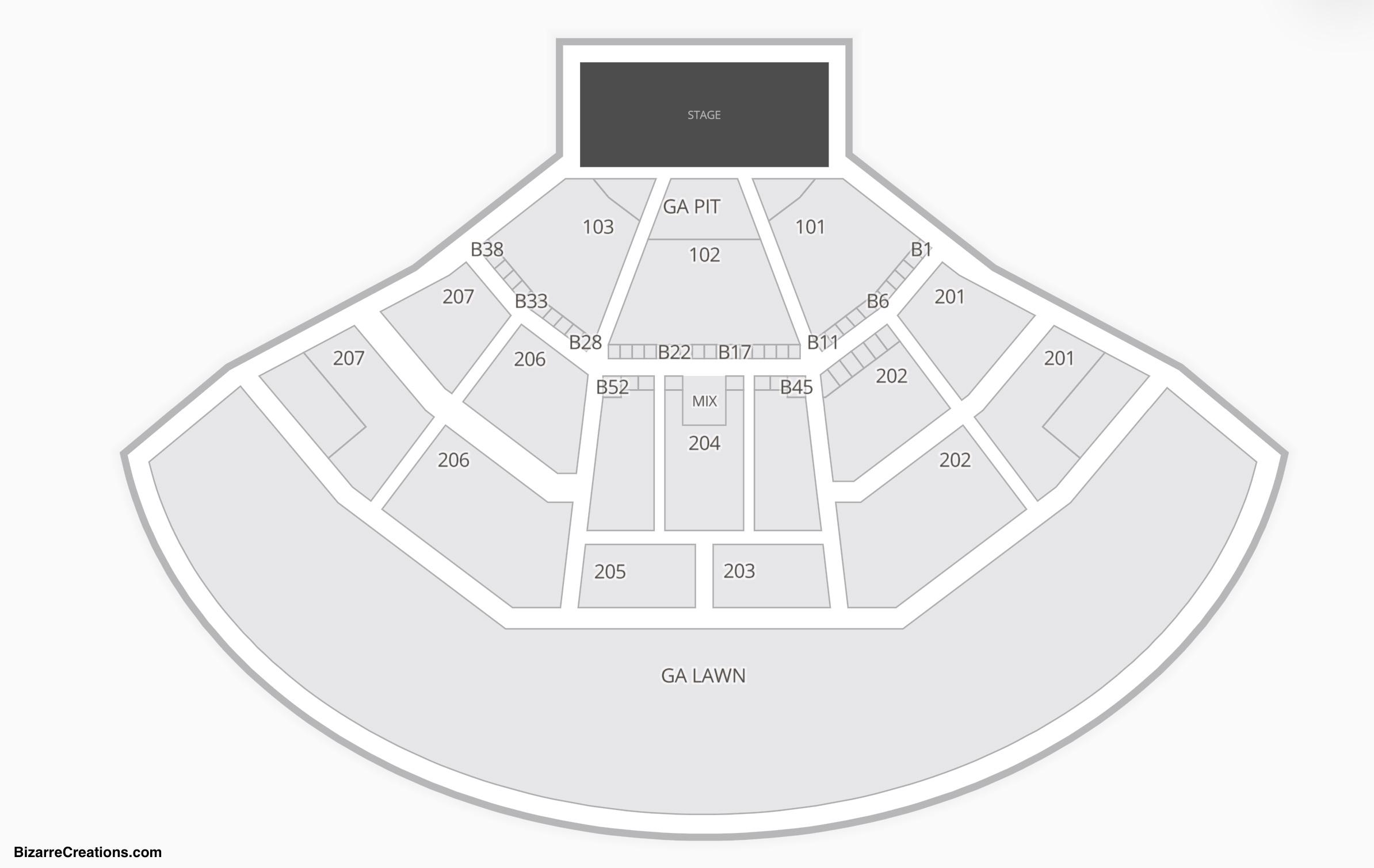 Walnut Creek Amphitheatre Interactive Seating Chart Arenda