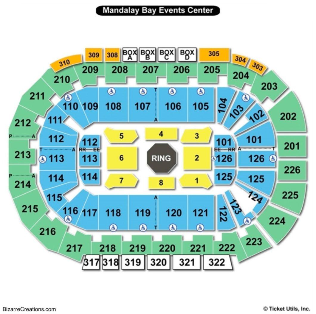 Mandalay Bay Event Center Seating Chart Wallseatco