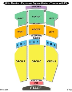 Ohio theatre playhouse square center seating chart cleveland also charts  tickets rh bizarrecreations
