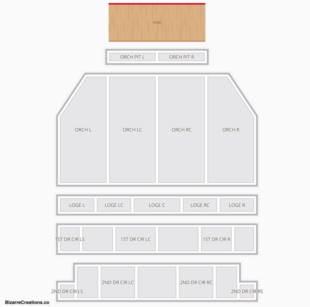 Ppac Seating Chart Seat Numbers
