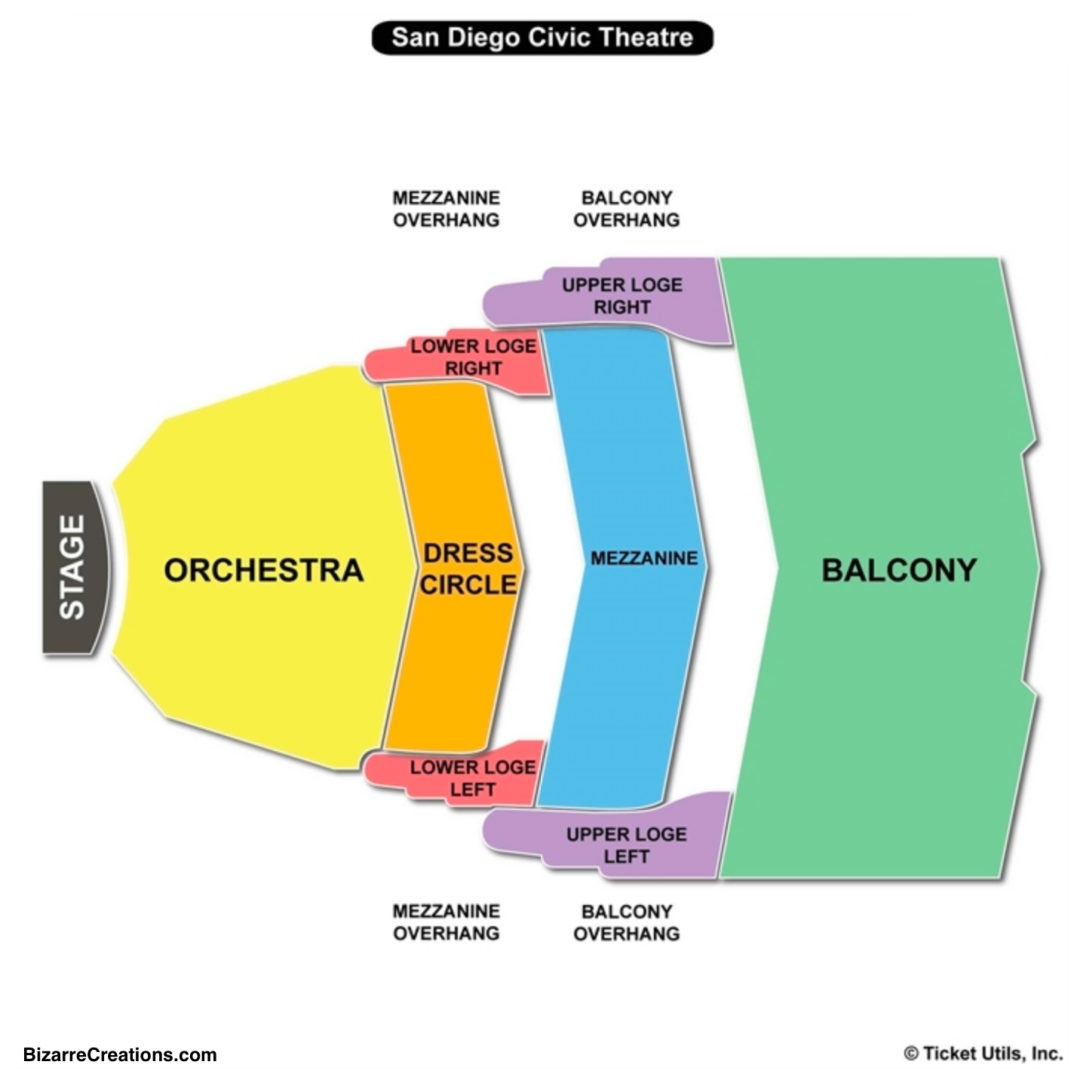 San Diego Civic Center Seating Chart Arenda Stroy