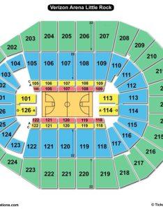 Verizon arena little rock seating chart basketball also charts  tickets rh bizarrecreations