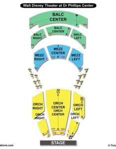Walt disney theater at dr phillips center seating chart also  rh bizarrecreations