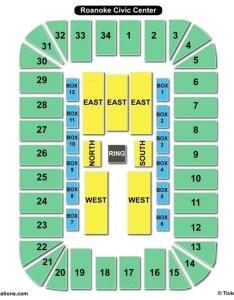 Berglund center seating chart wwe also charts  tickets rh bizarrecreations