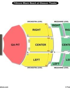 Fillmore miami beach at jackie gleason theater seating chart also the rh bizarrecreations