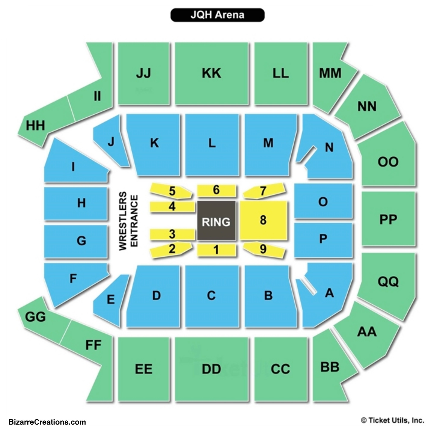 Wwe Seating Chart Arenda Stroy
