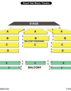 Royal oak music theatre seating chart wwe also charts  tickets rh bizarrecreations