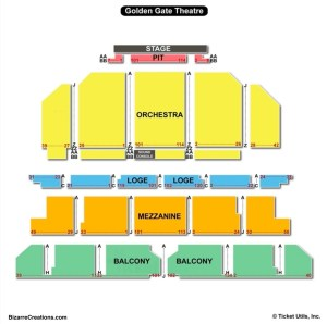 Golden Gate Theatre Seating Chart   Seating Charts & Tickets