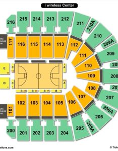 Taxslayer center seating chart basketball also charts  tickets rh bizarrecreations