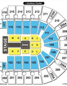 Moline iwireless arena seating chart wire center  rh flrishfarm co  wireless concerts iowa also rodeo illinois
