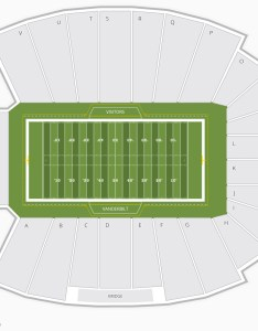 Vanderbilt commodores football seating chart also stadium charts  tickets rh bizarrecreations