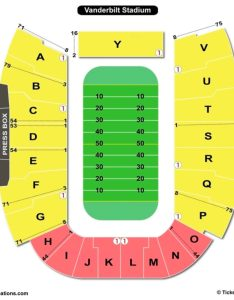 Vanderbilt stadium seating chart football also charts  tickets rh bizarrecreations