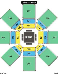 Winstar casino global events center seating chart also charts  tickets rh bizarrecreations