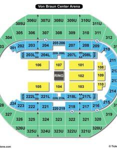 Von braun center arena seating chart wwe also propst charts  tickets rh bizarrecreations