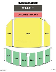 Warner theatre erie seating chart also charts  tickets rh bizarrecreations