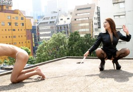 Sexy Japanese Mistress Humiliates, Facesits and Whips a slave