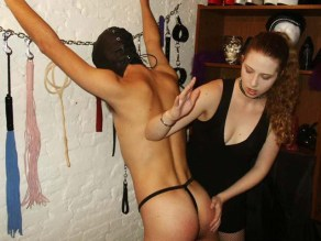 Sexy Young Mistress Trains a slave in Her Dungeon
