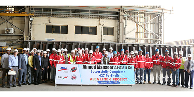 Alba Line 6 reach Major Milestone with Pot Shells' fabrication complete