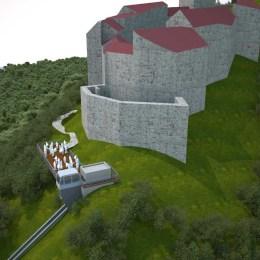 FOTO: Prima proiecţie tridimensională pentru liftul cu cremalieră spre Cetatea Râşnov