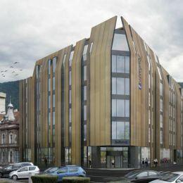 Hotelul Radisson Blu, care va lua locul Palatului Telefoanelor, ar trebui să fie finalizat anul viitor