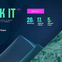 Comunitatea IT din Brașov se reunește săptămâna viitoare în cadrul Peak IT 002