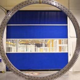 Schaeffler a realizat, anul acesta, la Cristian, un rulment gigant cu diametru de 4 metri și o greutate de peste trei tone