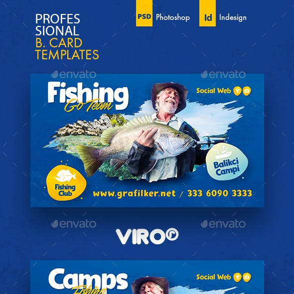 Fishing Business Card Templates Free Download