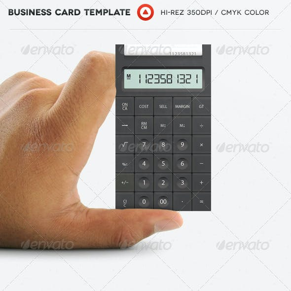 Accountant Calculator Business Card Free Download