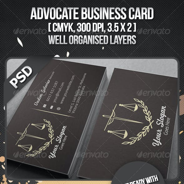 Advocate Business Card Free Download