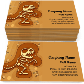 Archeology Dinosaur Skeleton Business Card Template