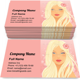 Blond Woman Portrait Business Card Template