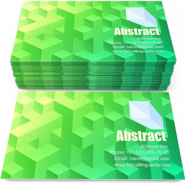 Sample of Bright abstract geometric calling card design for advertisements marketing ideas and promote modern style branding identity