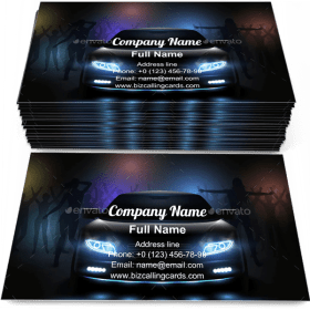 Car Show Lights Business Card Template