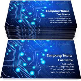 Circuit board technology Business Card Template