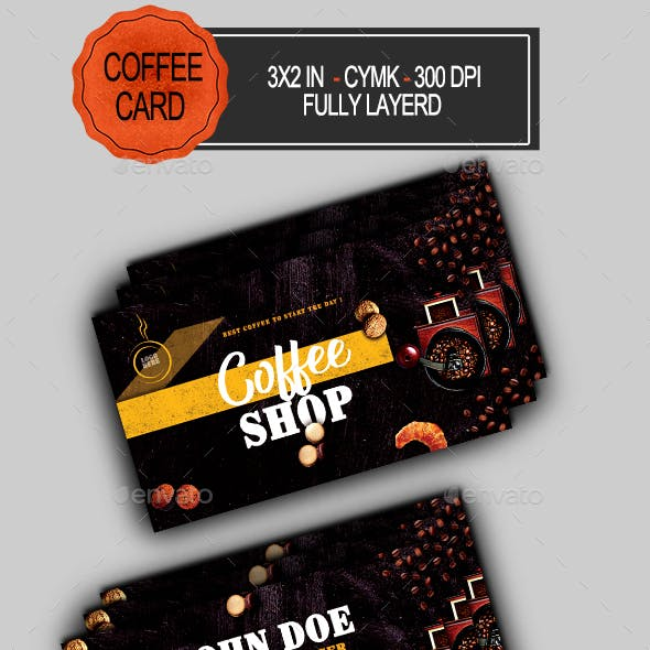 Coffee time Shop Business Card Free Download