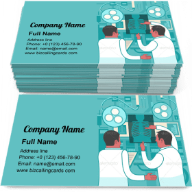 Collaboration In Medicine Business Card Template