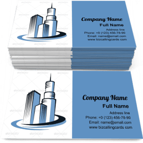 Communications Tower Business Card Template