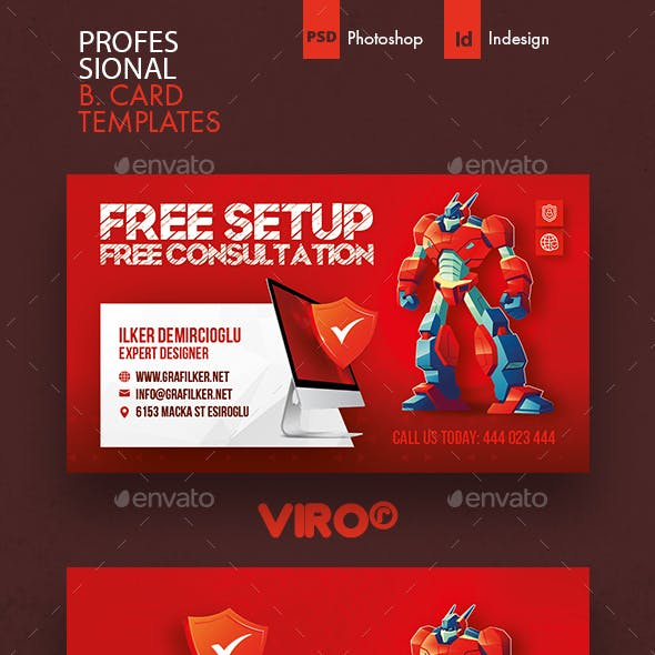 Computer Service Business Card Templates Free Download