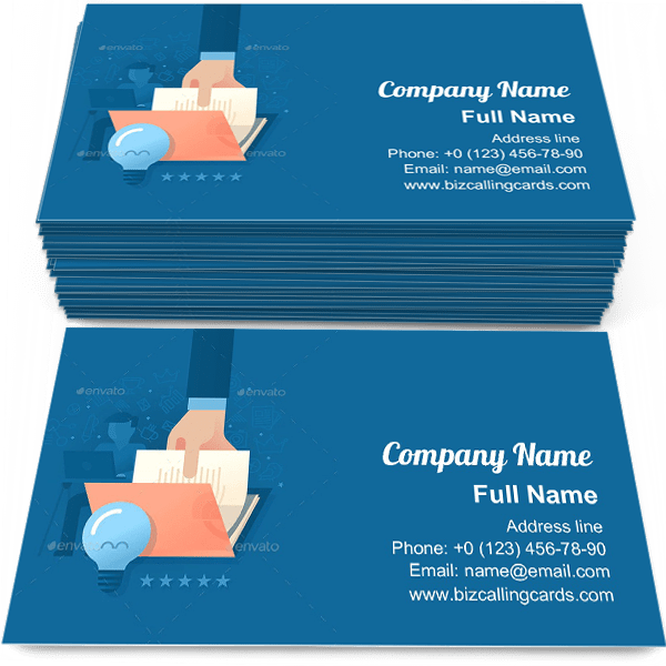 Sample of Creating Quality Content calling card design for advertisements marketing ideas and promote journalist branding identity