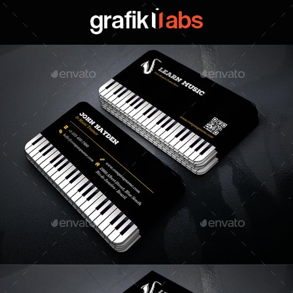 Creative Music Piano Business Card Free Download