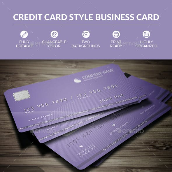 Credit Card Style Business Card Free Download