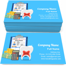 Dental Insurance Services Business Card Template
