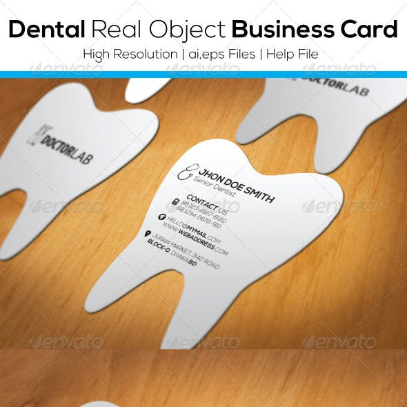 Dental Real Object Business Card Free Download