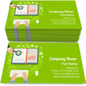 E-learning science Business Card Template