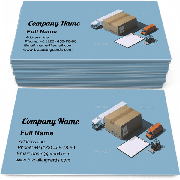 ✓ Editable Express delivery service Business Card Template