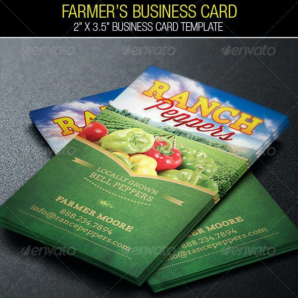 Farmers Vegetable Business Card Template Free Download